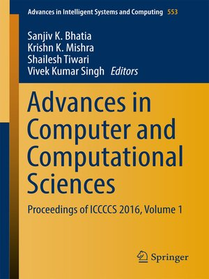 cover image of Advances in Computer and Computational Sciences